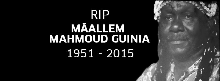 La culture Gnaoua en Deuil suite au décès du Mâallem Mahmoud Guinia