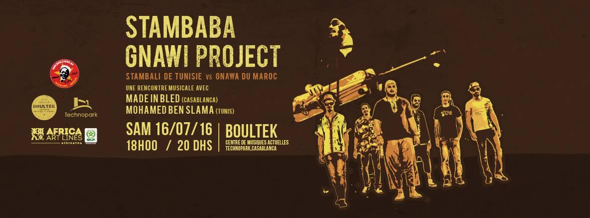 Stambaba Gnawi Project // En concert samedi 16 juillet au Boultek